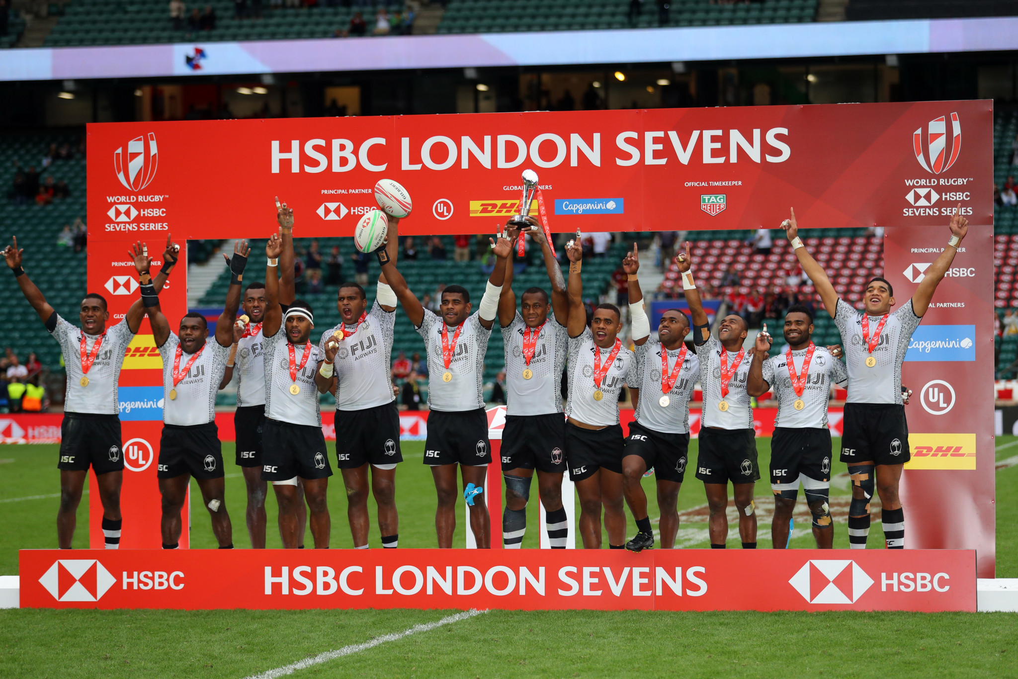 Fiji successfully defended their London Sevens title ©Getty Images