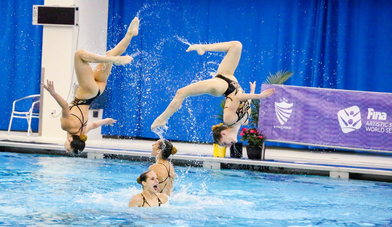 Hungary were the only entrants in the highlight event ©FINA