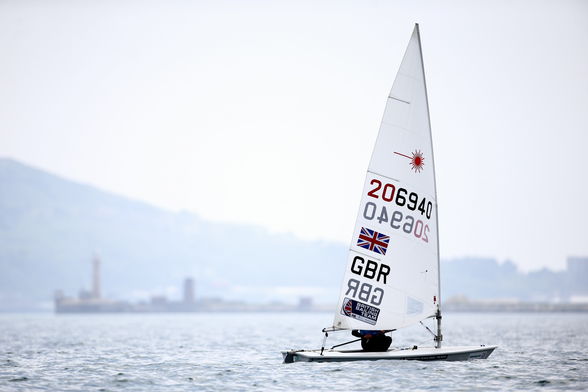 Britain's Lorenzo Chiavarini won his maiden senior title with victory in the laser competition ©Getty Images