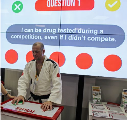 The test is designed to better educate blind athletes about doping ©IBSA