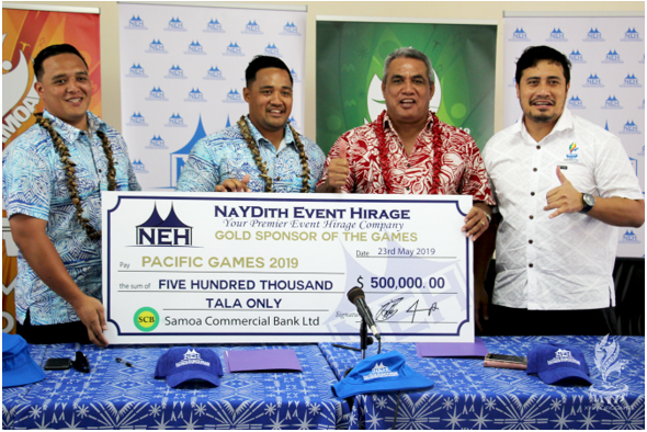 Naydith Events Hirage has signed a WS$500,000 deal ahead of the Games in July ©Samoa 2019