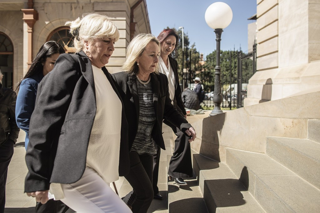 Reeva Steenkamp's mother June arrives at today's hearing ©Getty Images