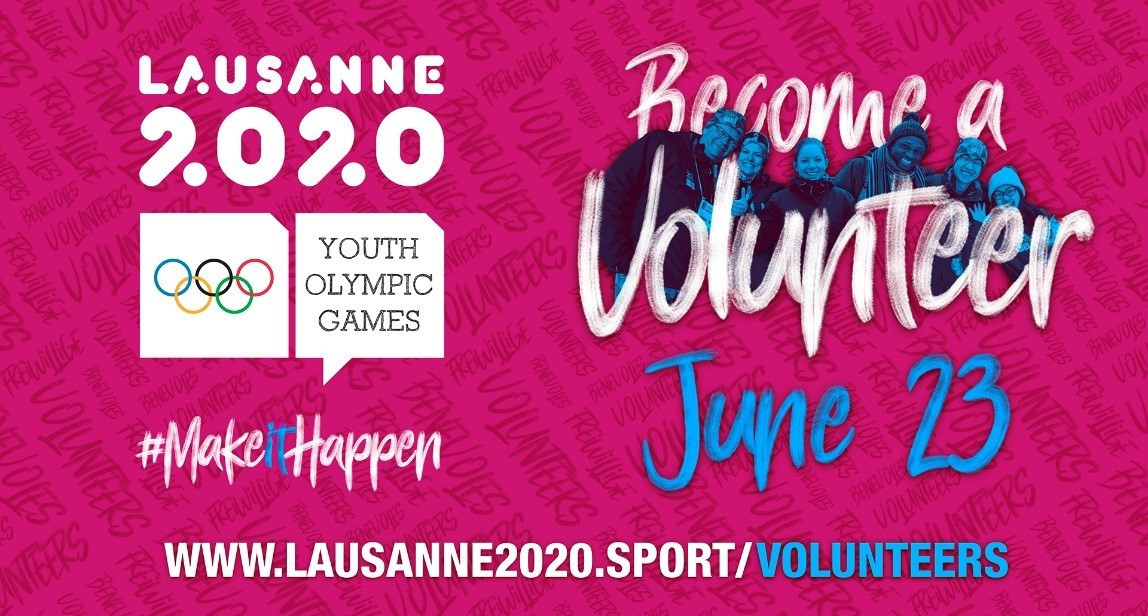 Lausanne 2020 searching for 3,000 volunteers with registration platform set to open on June 23