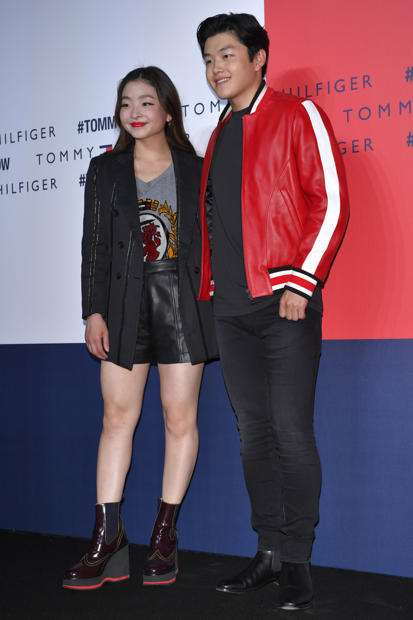 Figure skaters Maia and Alex Shibutani at a Tommy Hilfiger event in Tokyo ©Getty Images