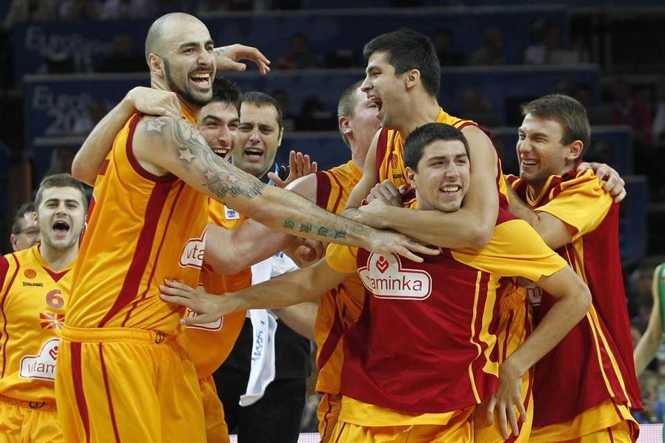 Pero Antić helped North Macedonia beat hosts Lithuania in the quarter-finals of the 2011 EuroBasket ©FIBA