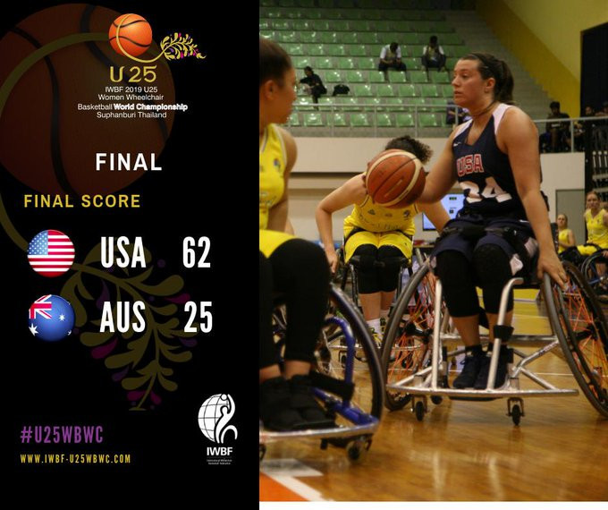 United States thrash Australia to win IWBF Women's Under-25 World Championship