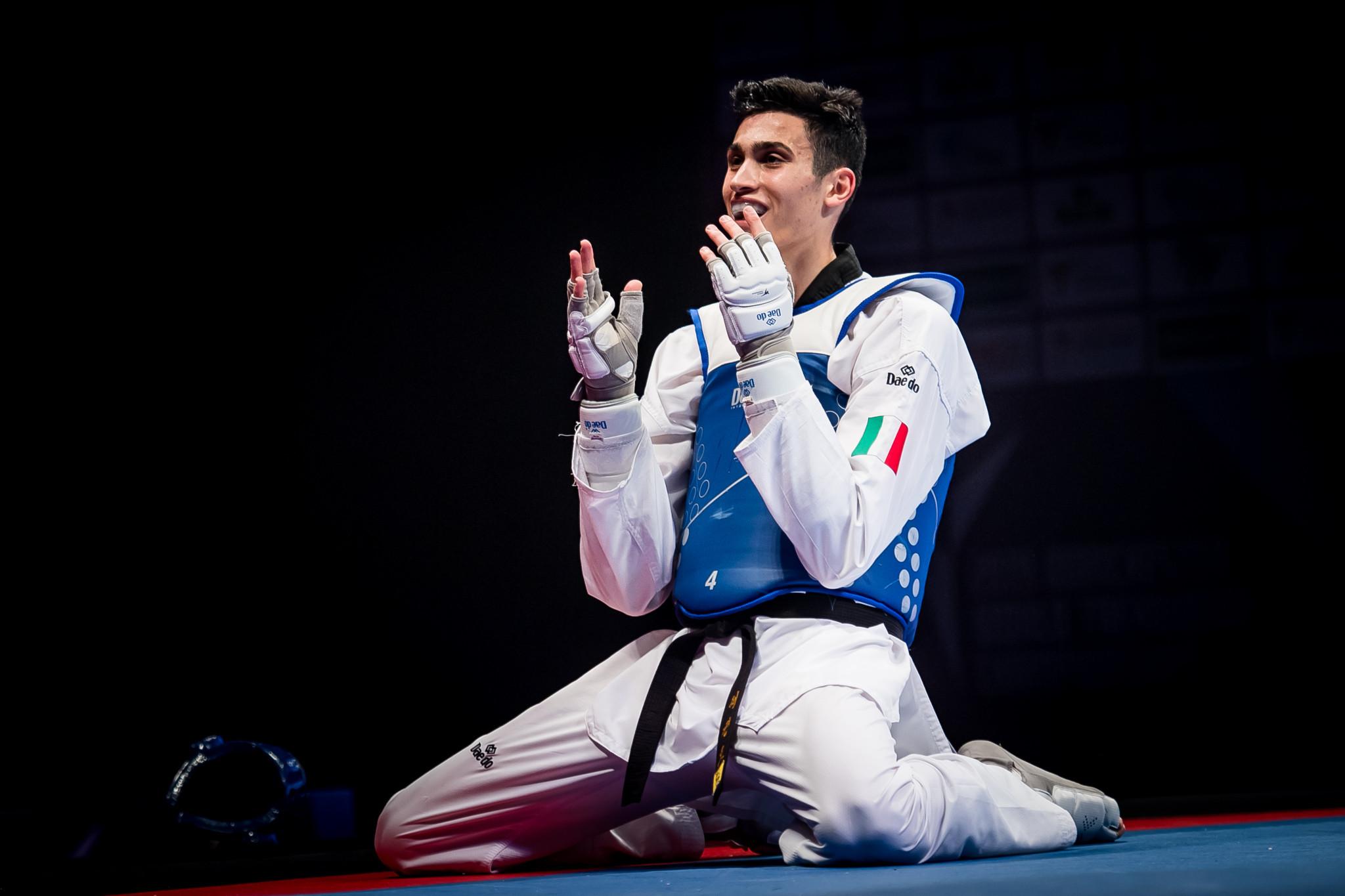 Simone Alessio claimed the men's under-74kg title at the 2019 World Taekwondo Championships in Manchester ©World Taekwondo