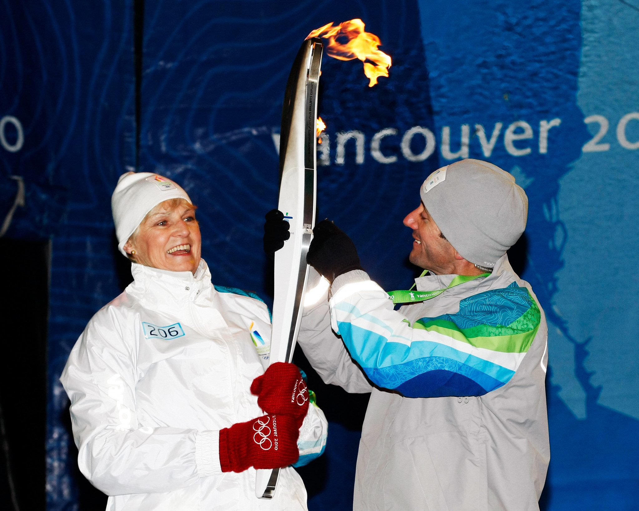 Veteran rower Guylaine Bernier, pictured as a Torchbearer ahead of the Vancouver Winter Olympics in 2010, is set to be inducted into the Hall of Fame ©Getty Images