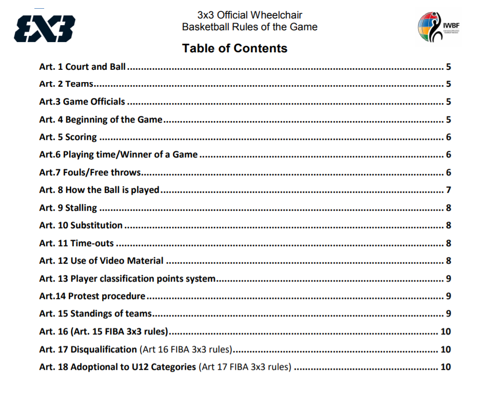The concept and rules of the 3x3 discipline in the wheelchair game were decided upon following extensive consultation and research into the different formats that were being played ©IWBF