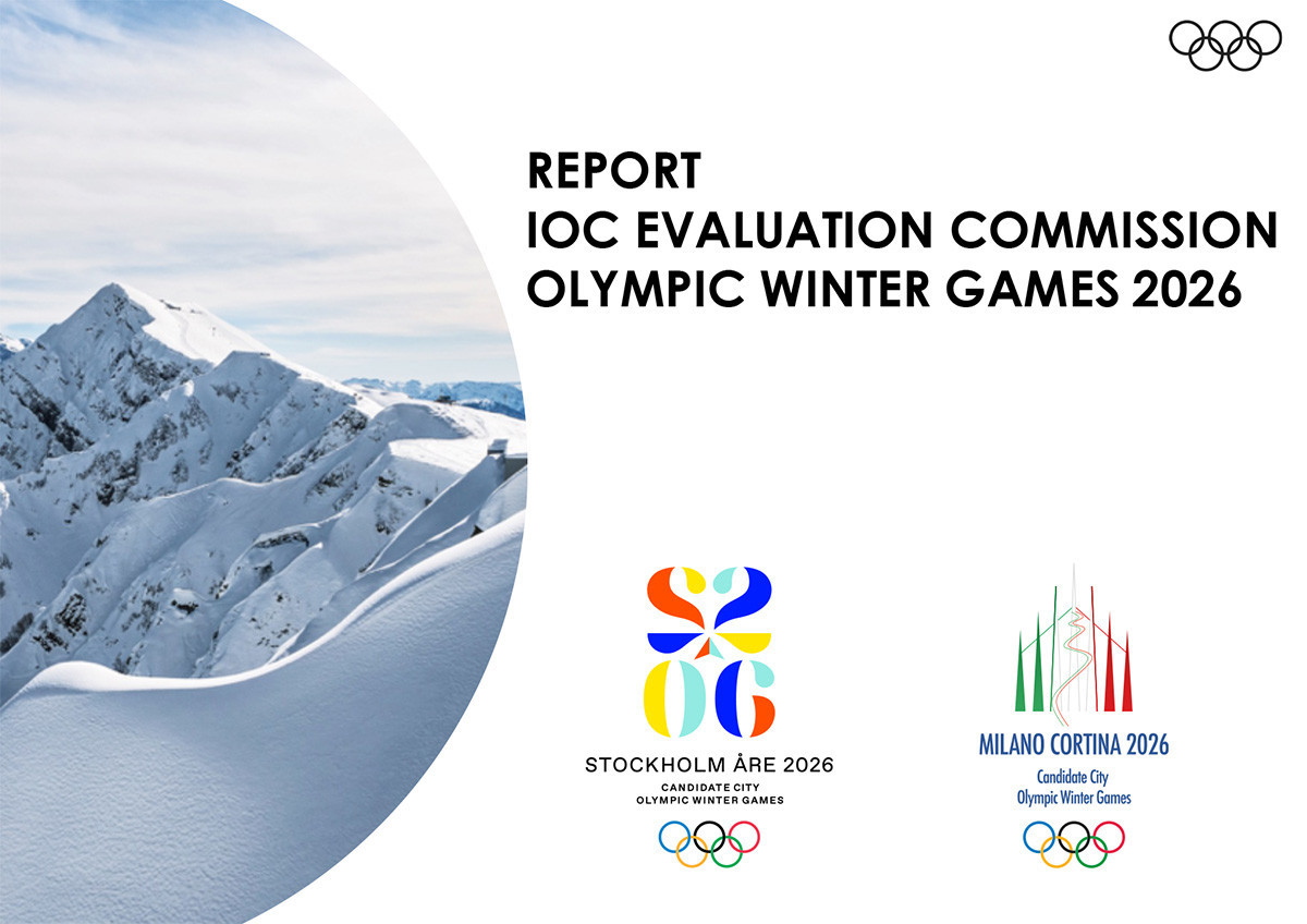 The IOC Evaluation Commission report analysing the bids for the 2026 Winter Olympic and Paralympic Games from Stockholm Åre and Milan Cortina d'Ampezzo revealed several worrying aspects ©IOC