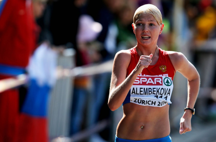Reigning European champion Elmira Alembekova was one of six Russian race-walkers suspended in September for failing doping tests