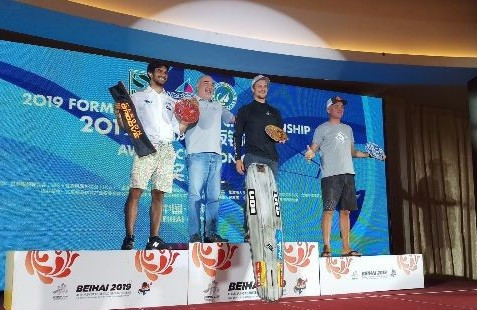 Russia's Denis Taradin won the male division of the Formula Kite Asian Championships ©IKA