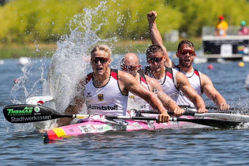 Germany's men's K4 team have dominated since the Rio 2016 Olympic Games ©ICF