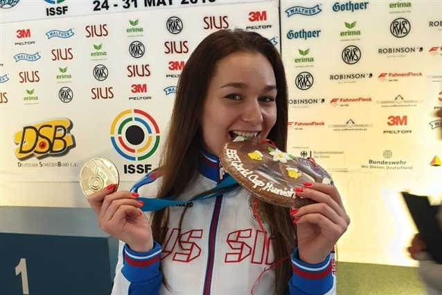 Russia's Zykova claims first-ever ISSF Rifle and Pistol World Cup gold medal with win in Munich