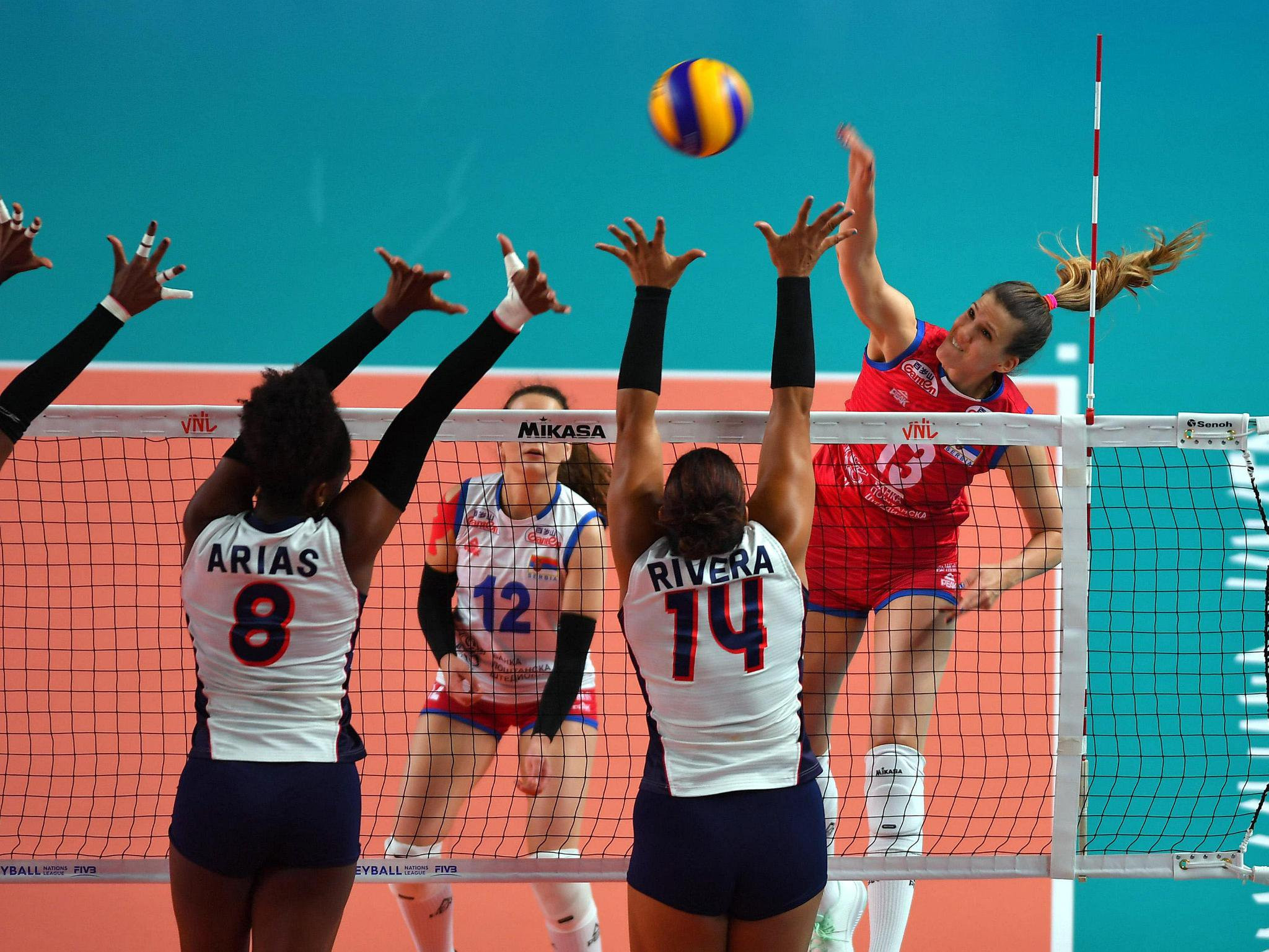 World champions Serbia get back to winning ways in FIVB Women's Nations League