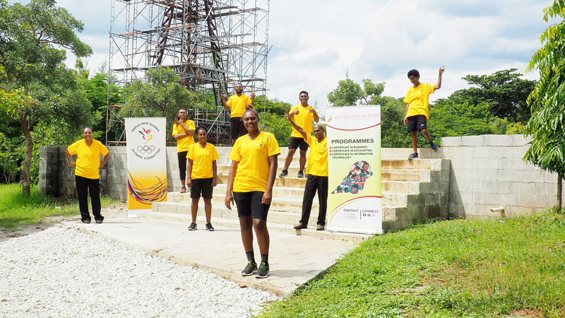 The Athlete Excellence Programme has been running for three years in a collaboration between the IBS University and the Papua New Guinea Olympic Committee © PNGOC
