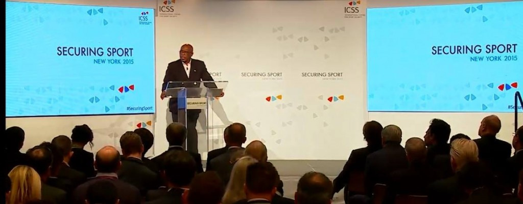 Tokyo Sexwale provided a keynote address on the opening day of the Securing Sport Summit ©ICSS