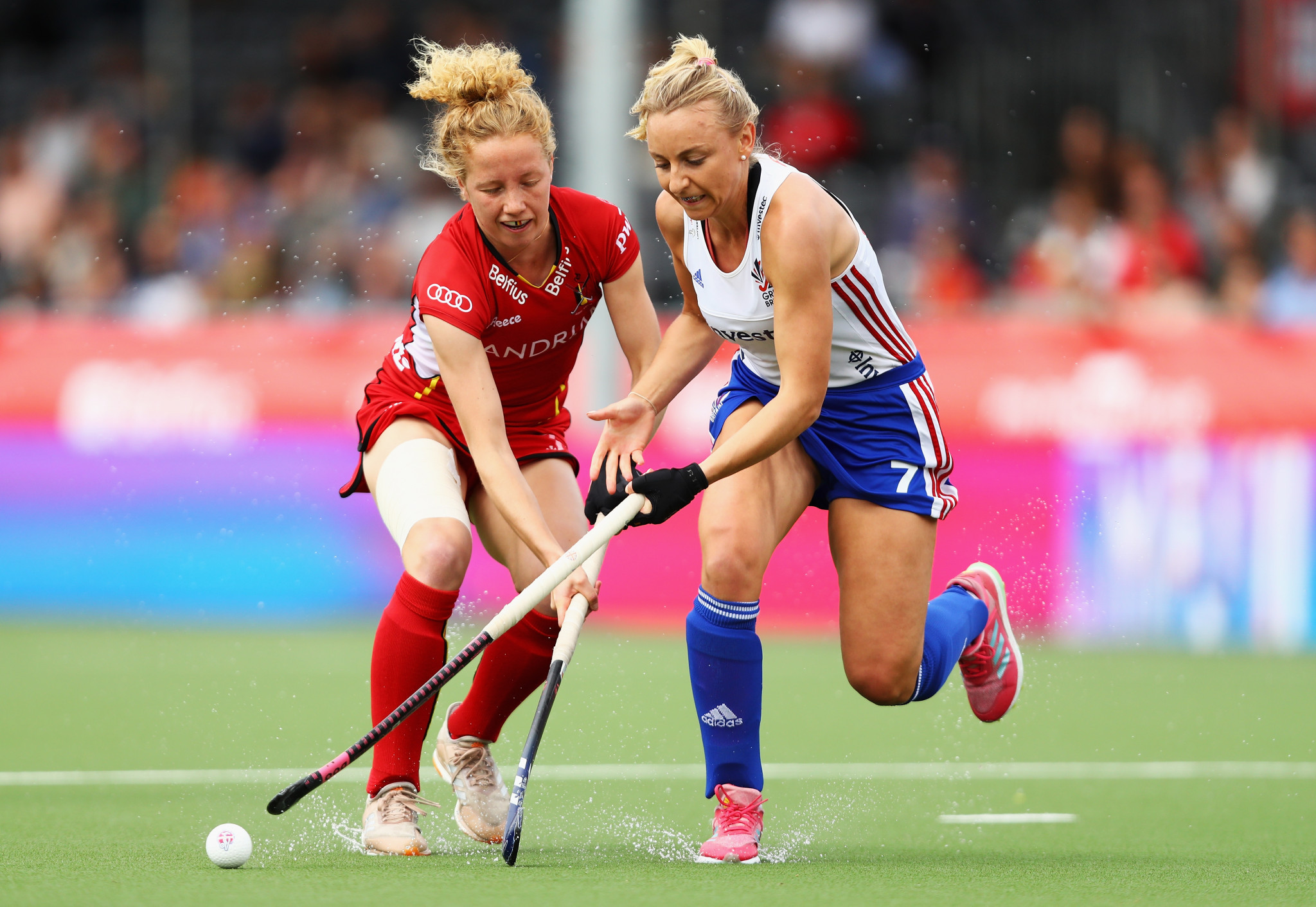 Belgium recorded an emphatic 4-1 victory against Olympic champions Britain in the women's FIH Pro League ©Getty Images