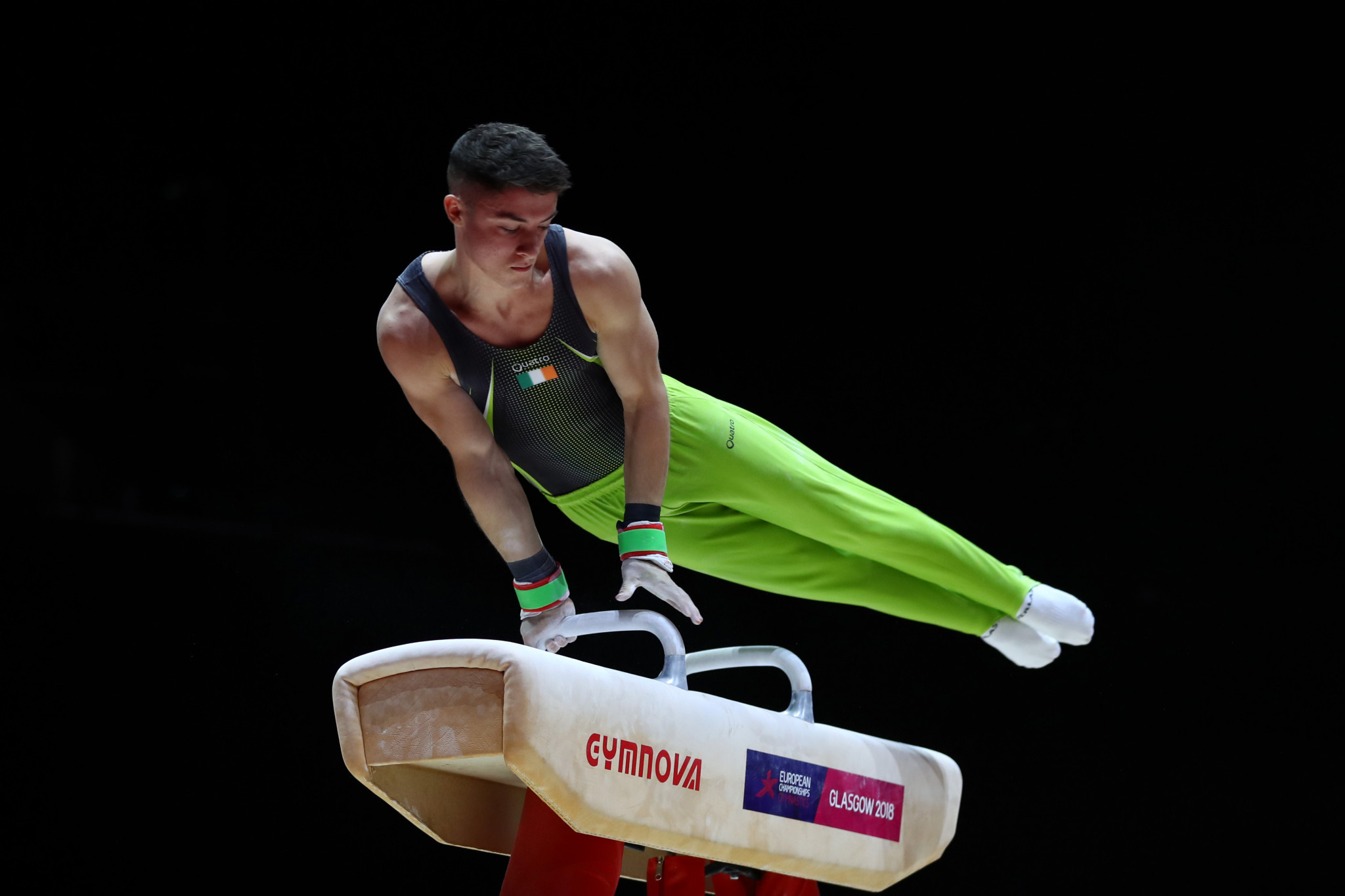 Ireland's Rhys McClenaghan was the strongest performer in men's pommel horse qualification ©Getty Images