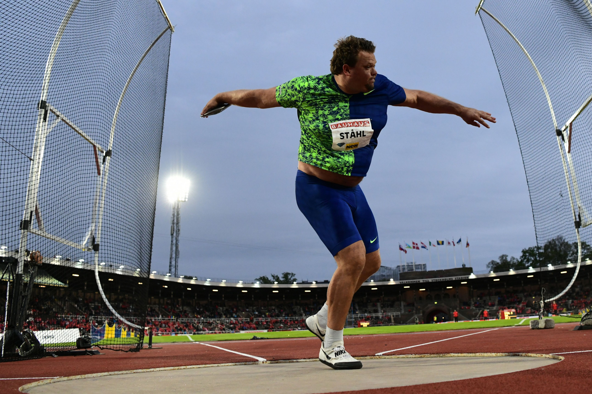 Home discus thrower Daniel Stahl had another big win at the IAAF Diamond League meeting in Stockholm tonight  ©Getty Images