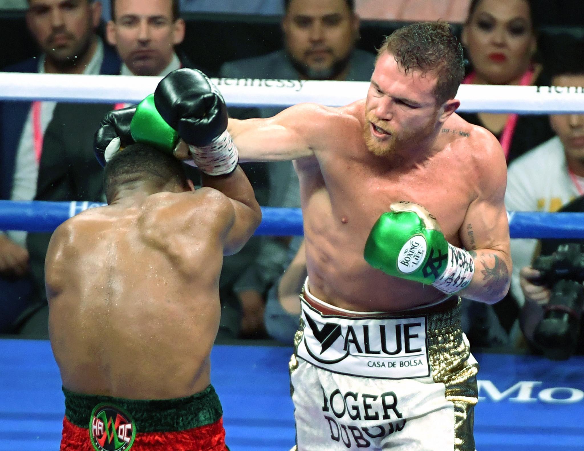 Mexican boxer Saul