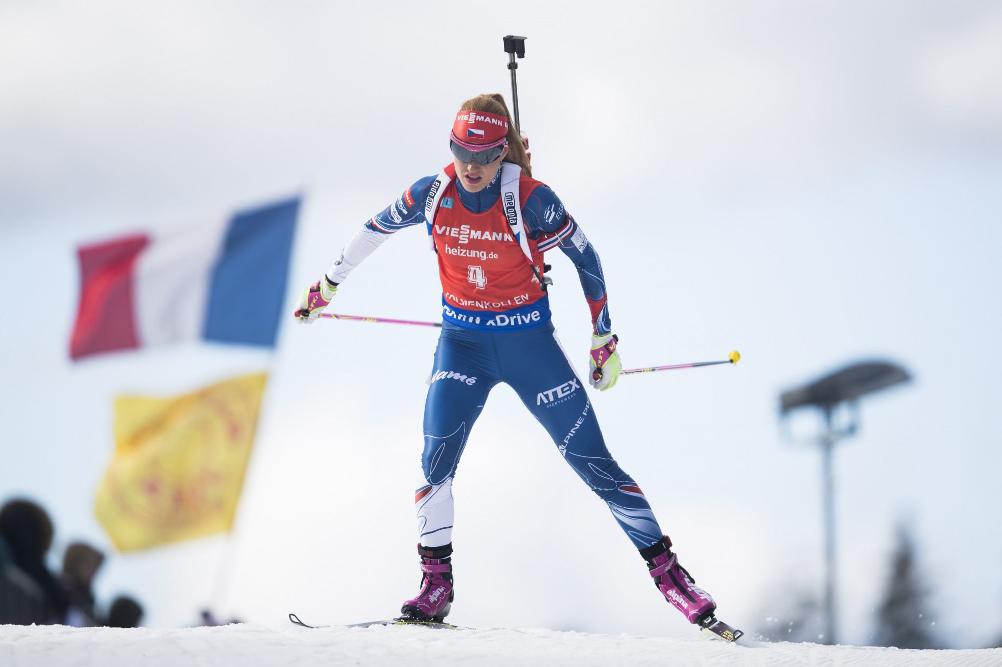 Czech Republic's Gabriela Koukalová finished her biathlon career with two world gold medals and two Olympic silver medals ©Getty Images