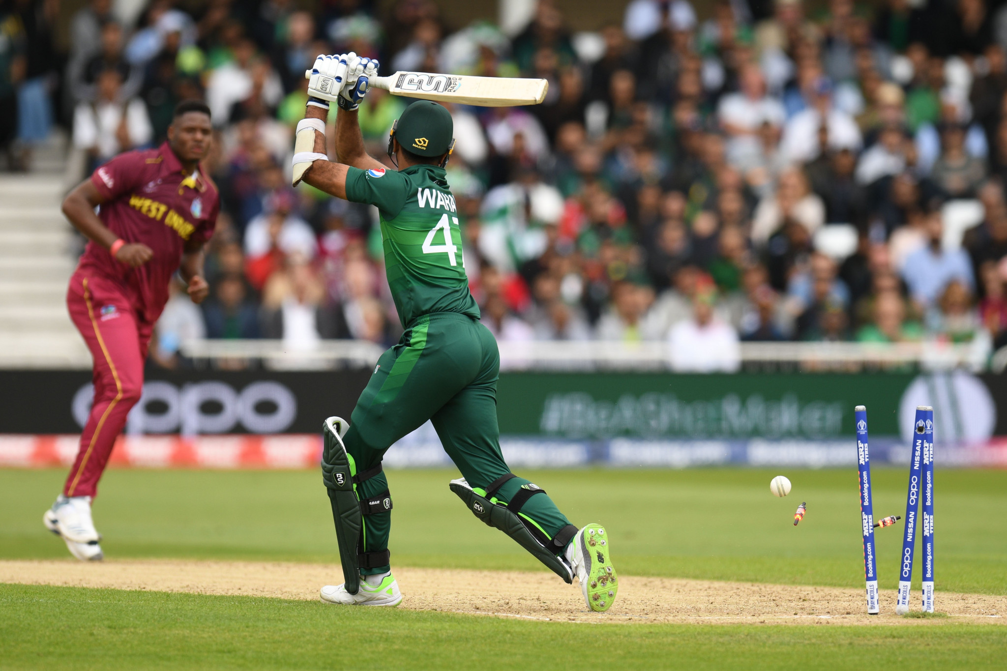 West Indies crush Pakistan in Cricket World Cup with stunning display of fast bowling