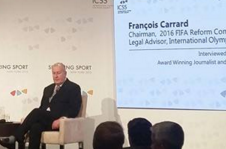 François  Carrard believes solving the FIFA scandal will be harder than address problems within the IOC in the late 1990s ©ITG
