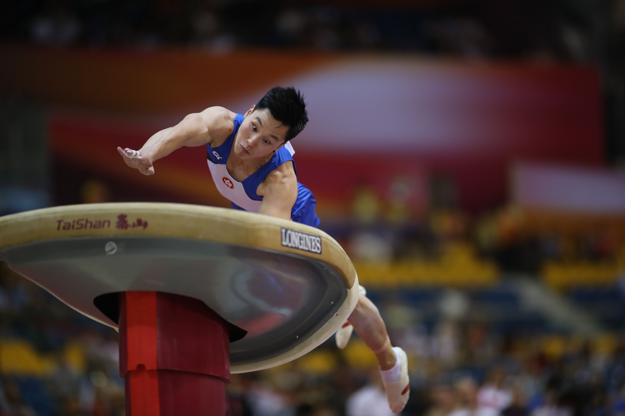 Hong Kong's Shek Wai Hung topped the men's vault qualification standings on day two of the FIG World Challenge Cup in Koper in Slovenia ©Getty Images