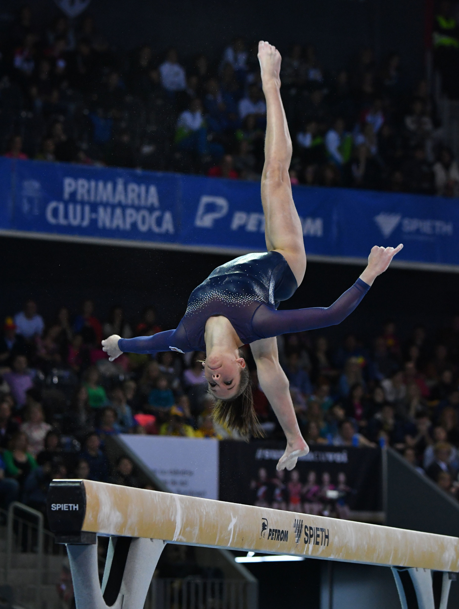 Hungary's Zsófia Kovács came out on top in women's beam qualification ©Getty Images