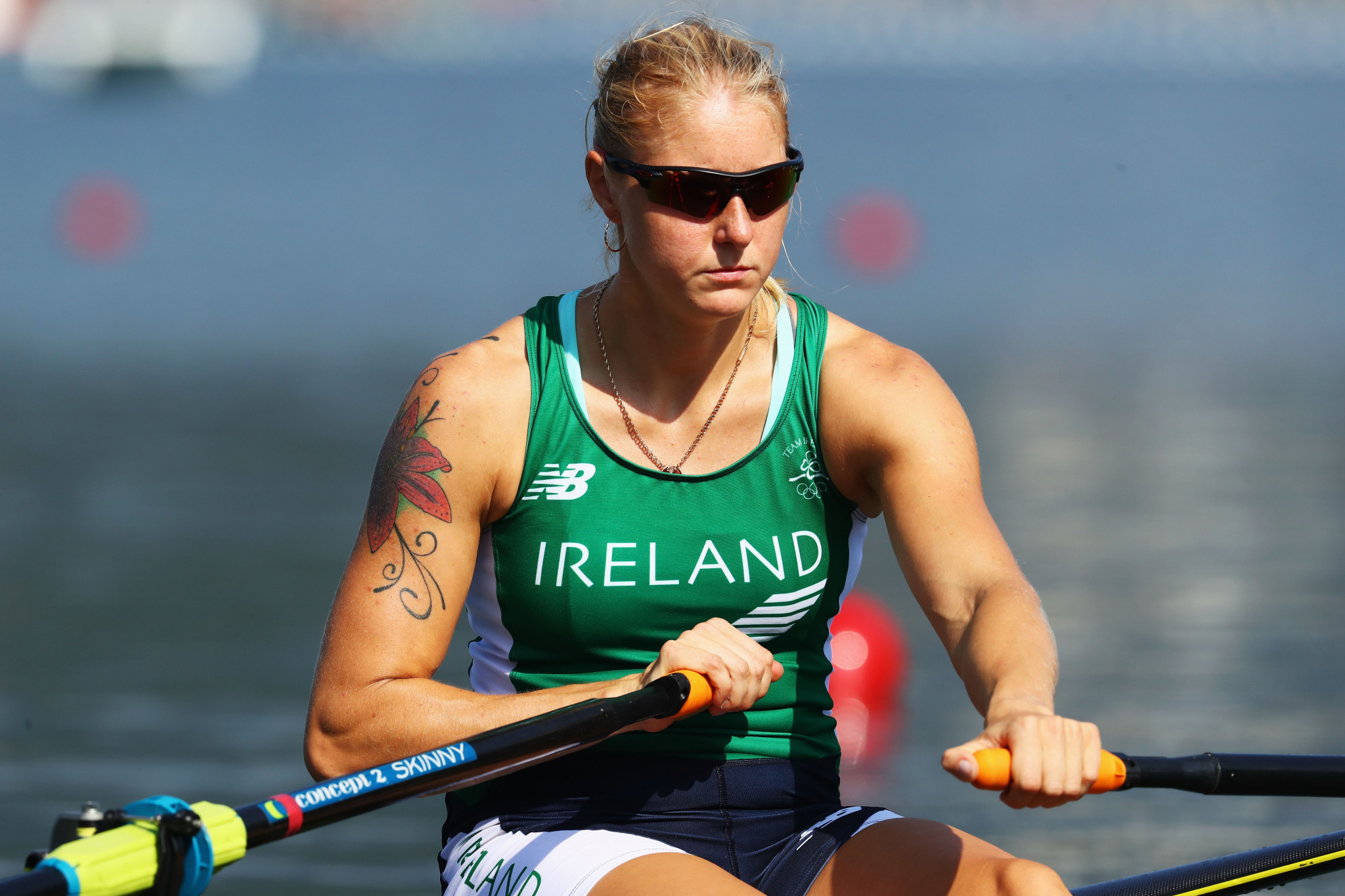 World champion Sanita Puspure of Ireland was dominant in her women's single sculls heat at the European Rowing Championships ©Getty Images