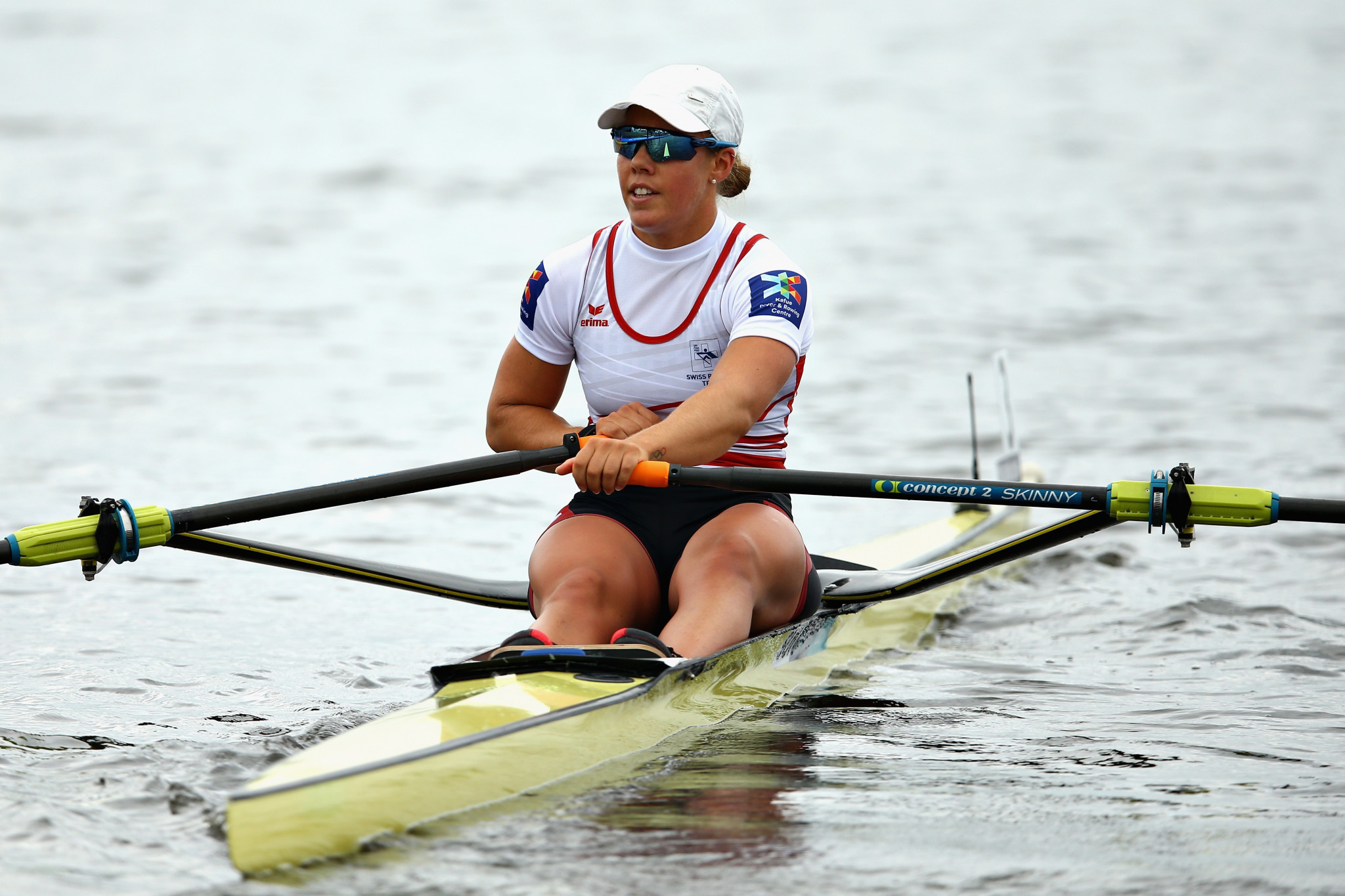 Jeannine Gmelin of Switzerland will have high hopes of retaining her European single sculls title on her home waters of Rotsee tomorrow ©Getty Images