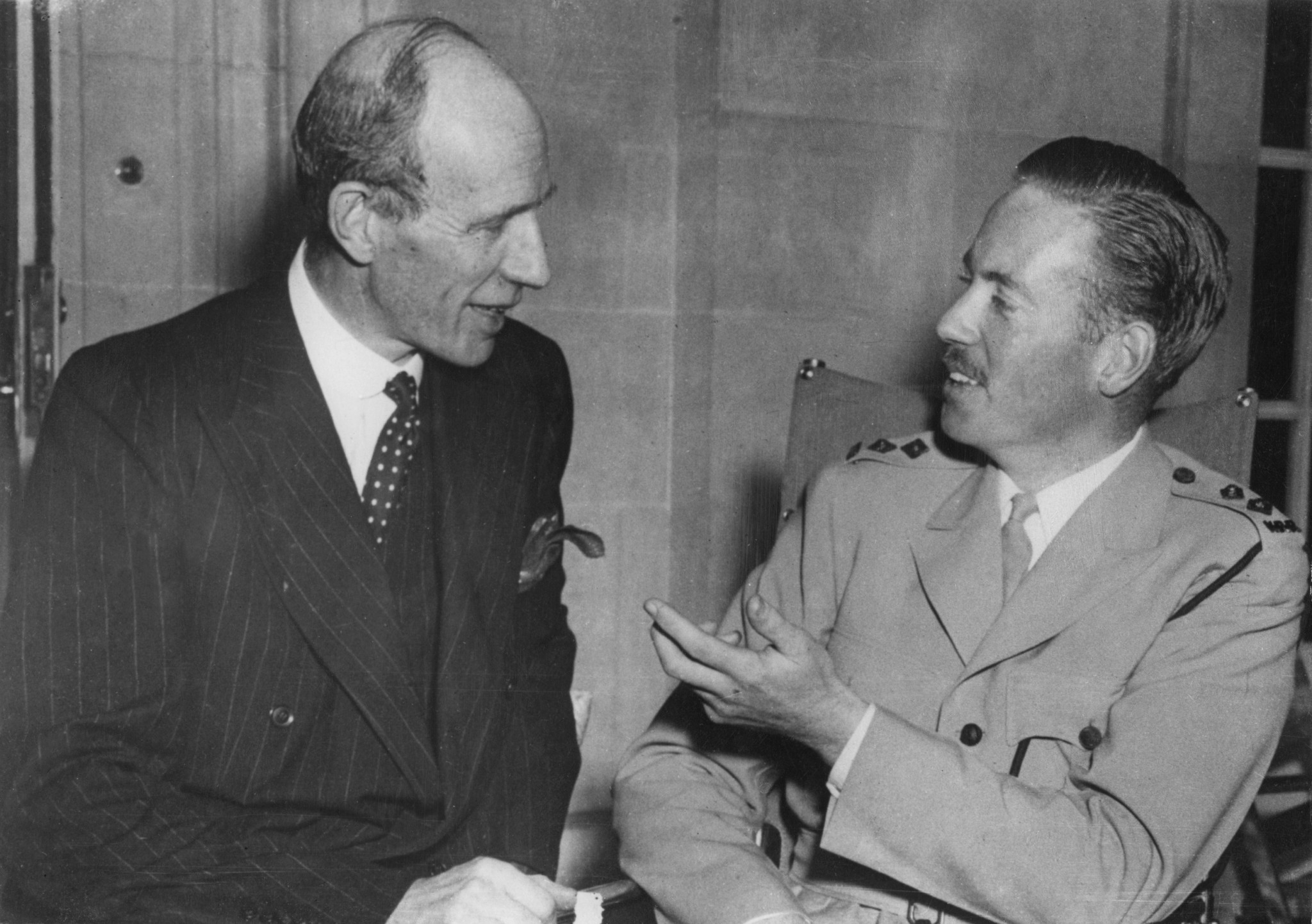 "On June 8, 1939, then British Foreign Secretary Lord Halifax, left, told the House of Lords that Britain had not ""abandoned all desire to reach an understanding with Germany"" ©Getty Images"