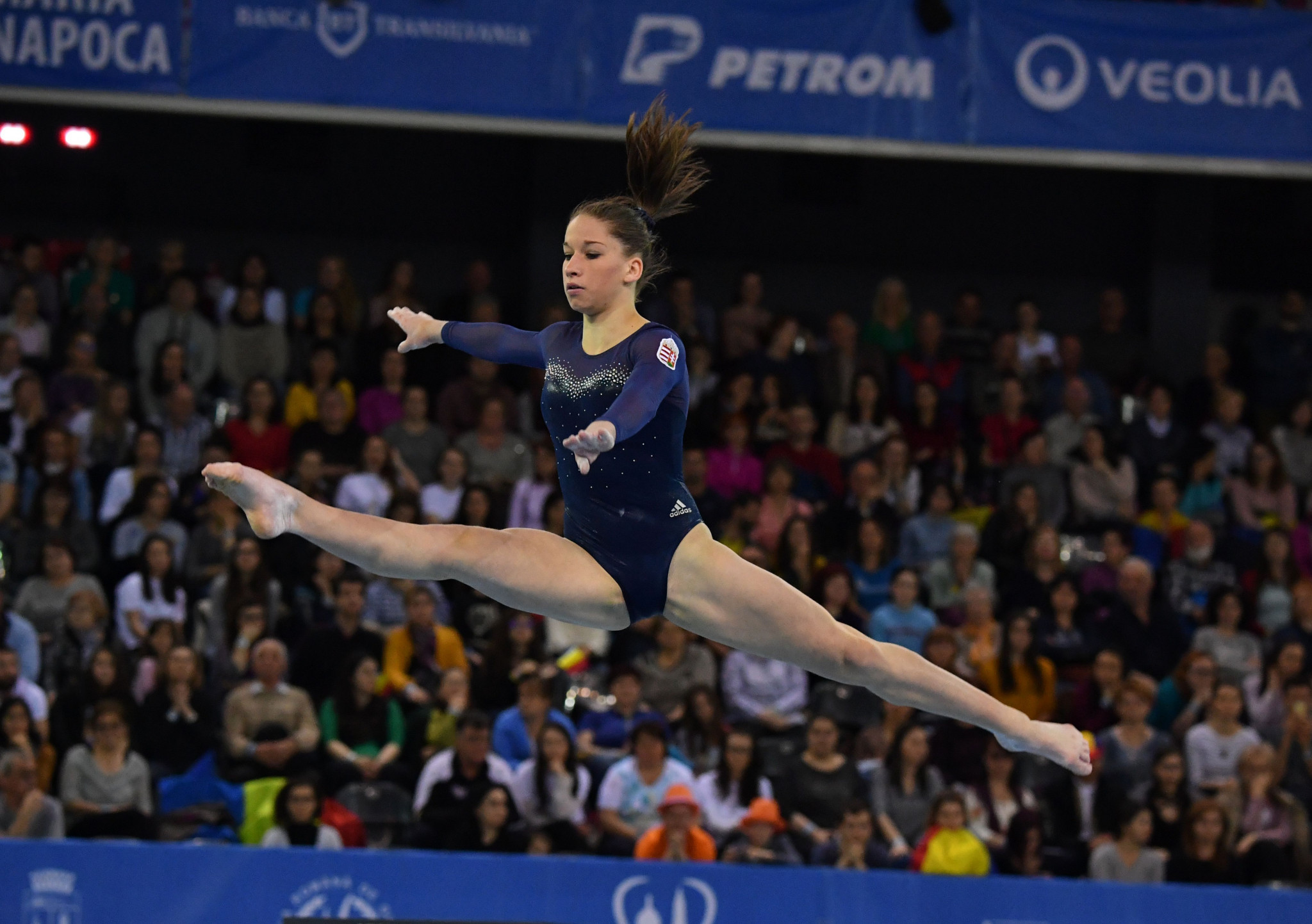 Hungary's Zsófia Kovács won the women's uneven bars competition on the opening day of finals ©Getty Images