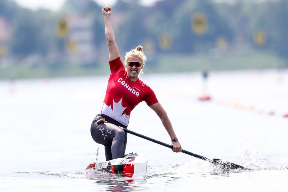 Canada's Laurence Vincent-Lapointe won the C1 200m title at the ICF Canoe Sprint World Cup in Duisburg today despite almost sinking her own hopes through over-hydration ©ICF