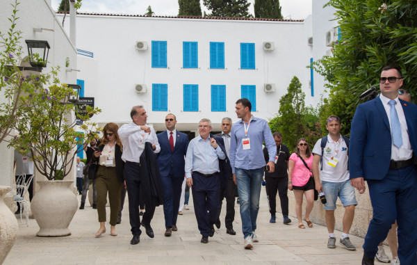 IOC President Thomas Bach was a special guest at the Games ©Montenegro 2019