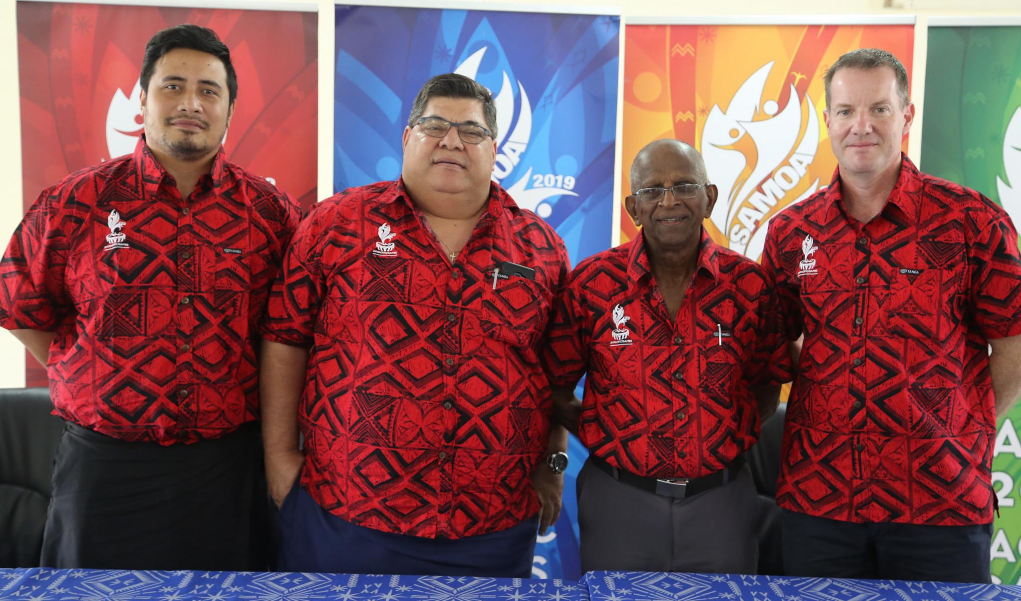 PGC President Samoa Vidhya Lakhan led a deputation to the Samoan capital of Apia  ©PGC