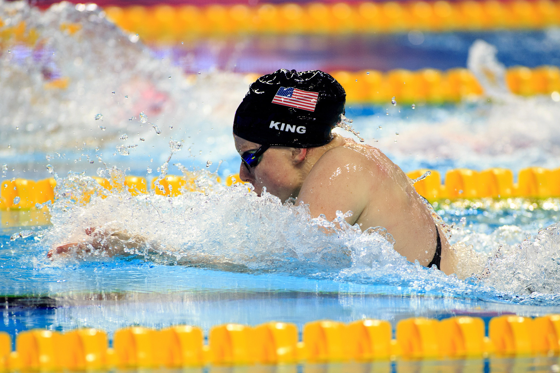American Lily King won three titles at the International Swimming Federation Champions Swim Series in Indianapolis ©Getty Images