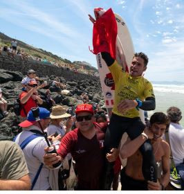 Two golds for France, but Peru's Clemente wins men's title at ISA World Longboard Surfing Championships in Biarritz