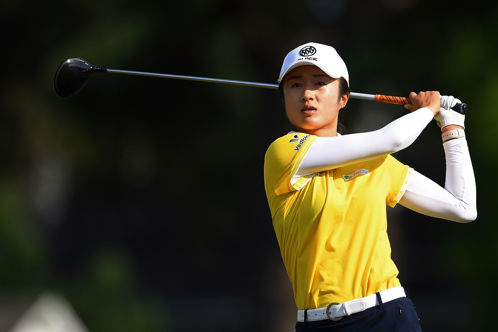 Yu Liu of China hits her tee shot on the 16th hole at  the US Women's Open Championship at the Country Club of Charleston ©Getty Images