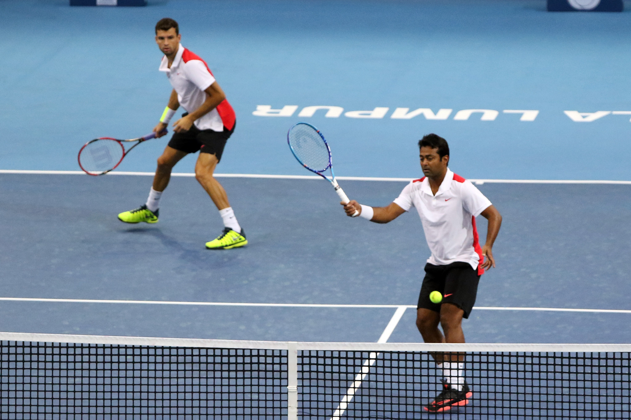 Leander Paes, right, has announced plans to continue playing in doubles for India at next year's Olympics in Tokyo - for what would be a record eighth appearance in the Games ©Getty Images