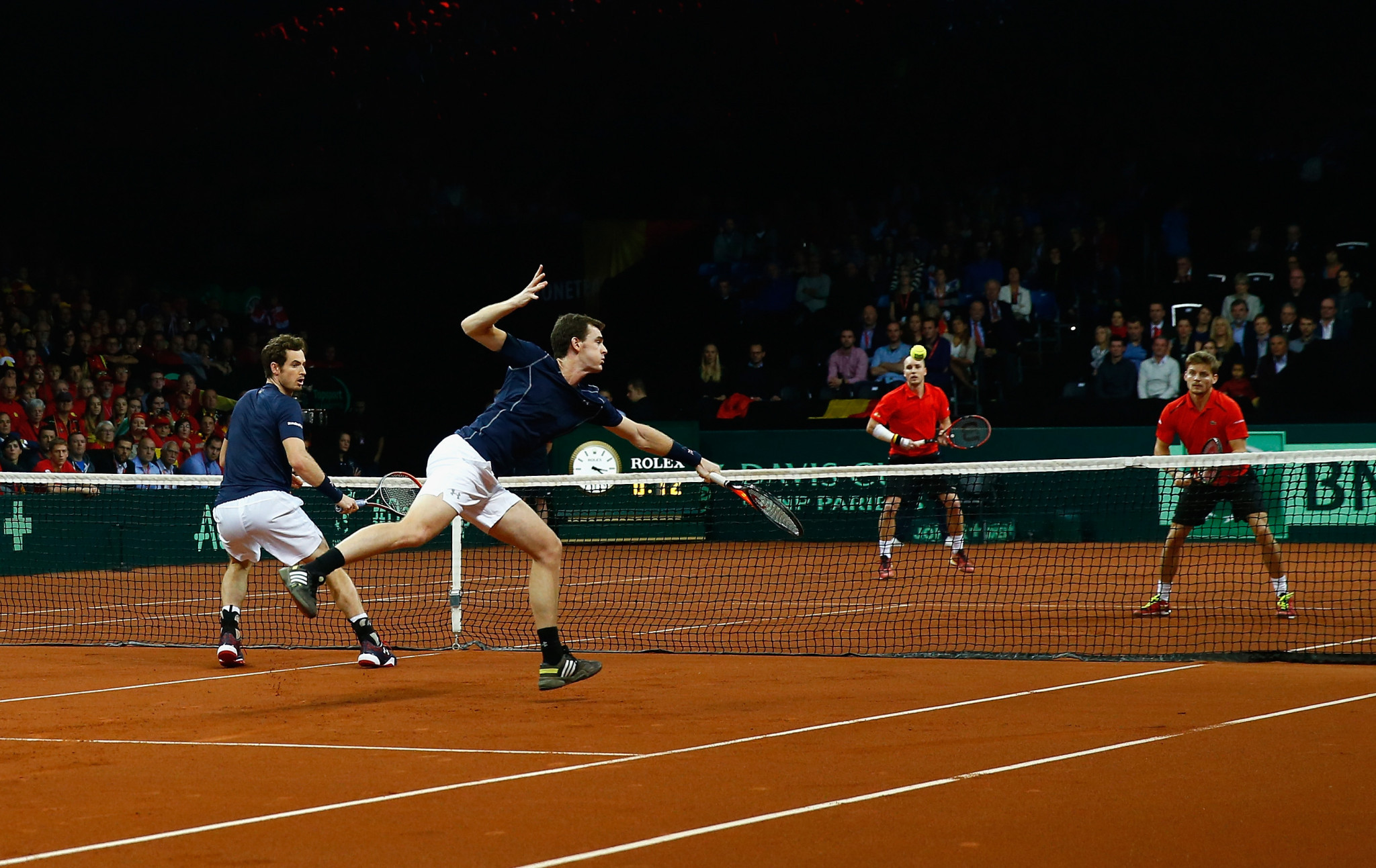 Doubles is only really meaningful when it takes place in an event like the Davis Cup, such as 2015 when brothers Andy and Jamie Murray teamed-up to help Britain beat Belgium in the final ©Getty Images