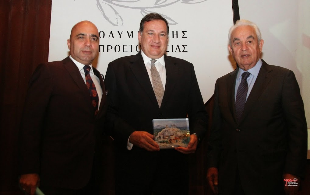 Spyros Capralos has been honoured with the A G Leventis Excellence Award ©Hellenic Olympic Committee