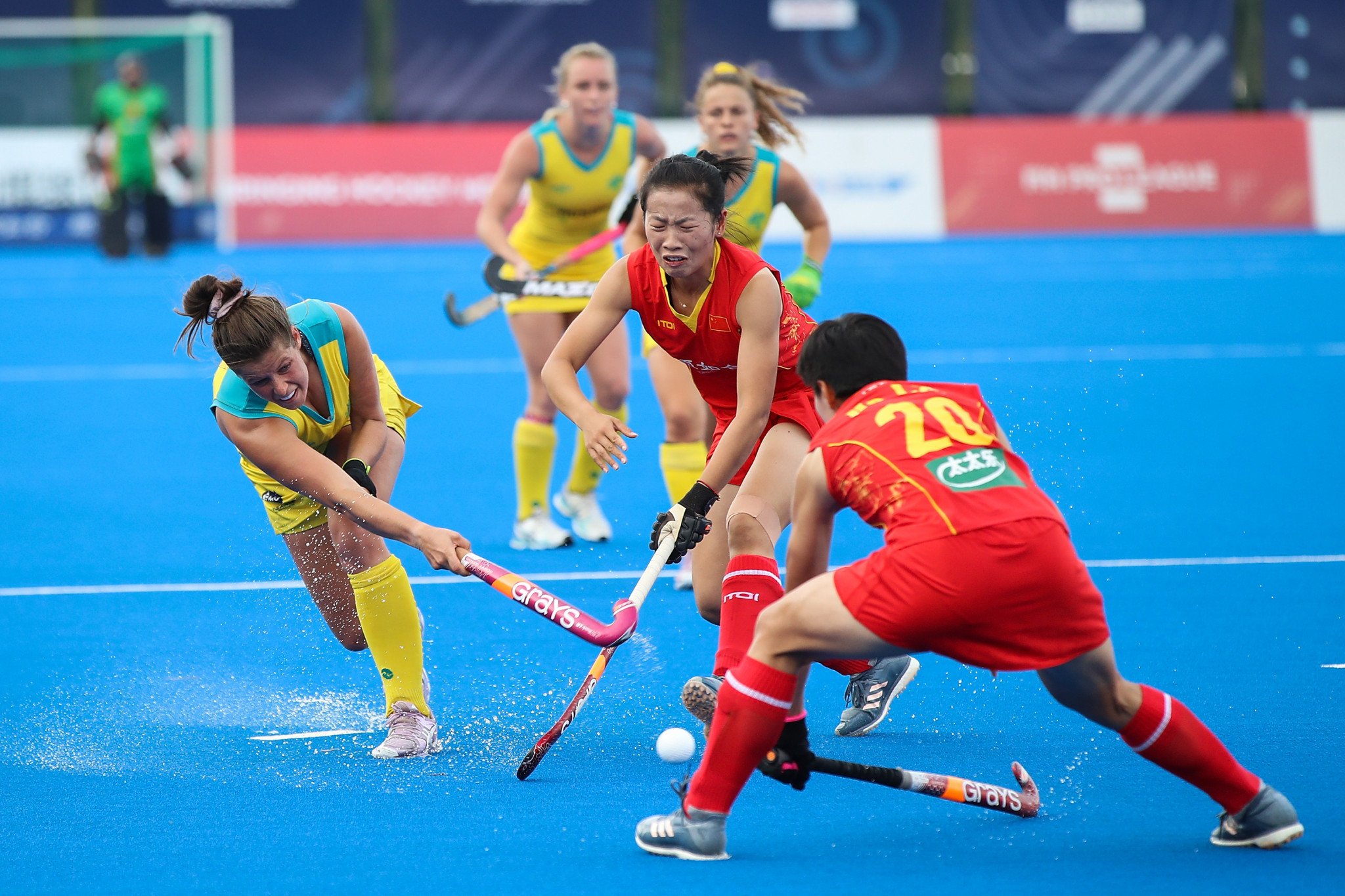 Australia moved up to third in the women's Pro League standings with victory over China ©Getty Images