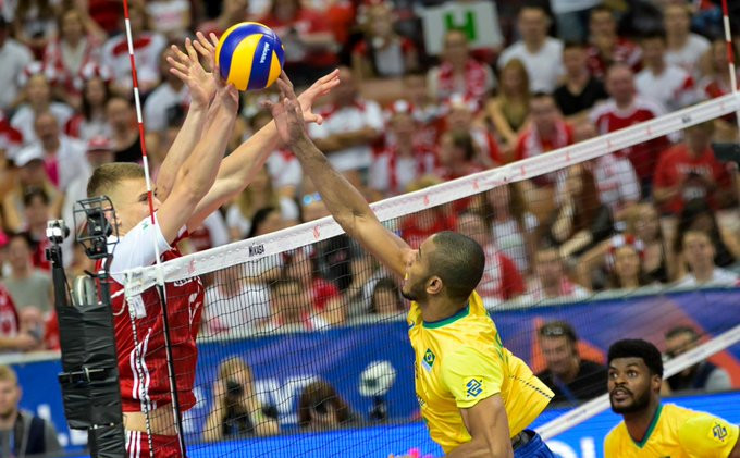 Brazil fight back to beat Poland in FIVB Men's Nations League