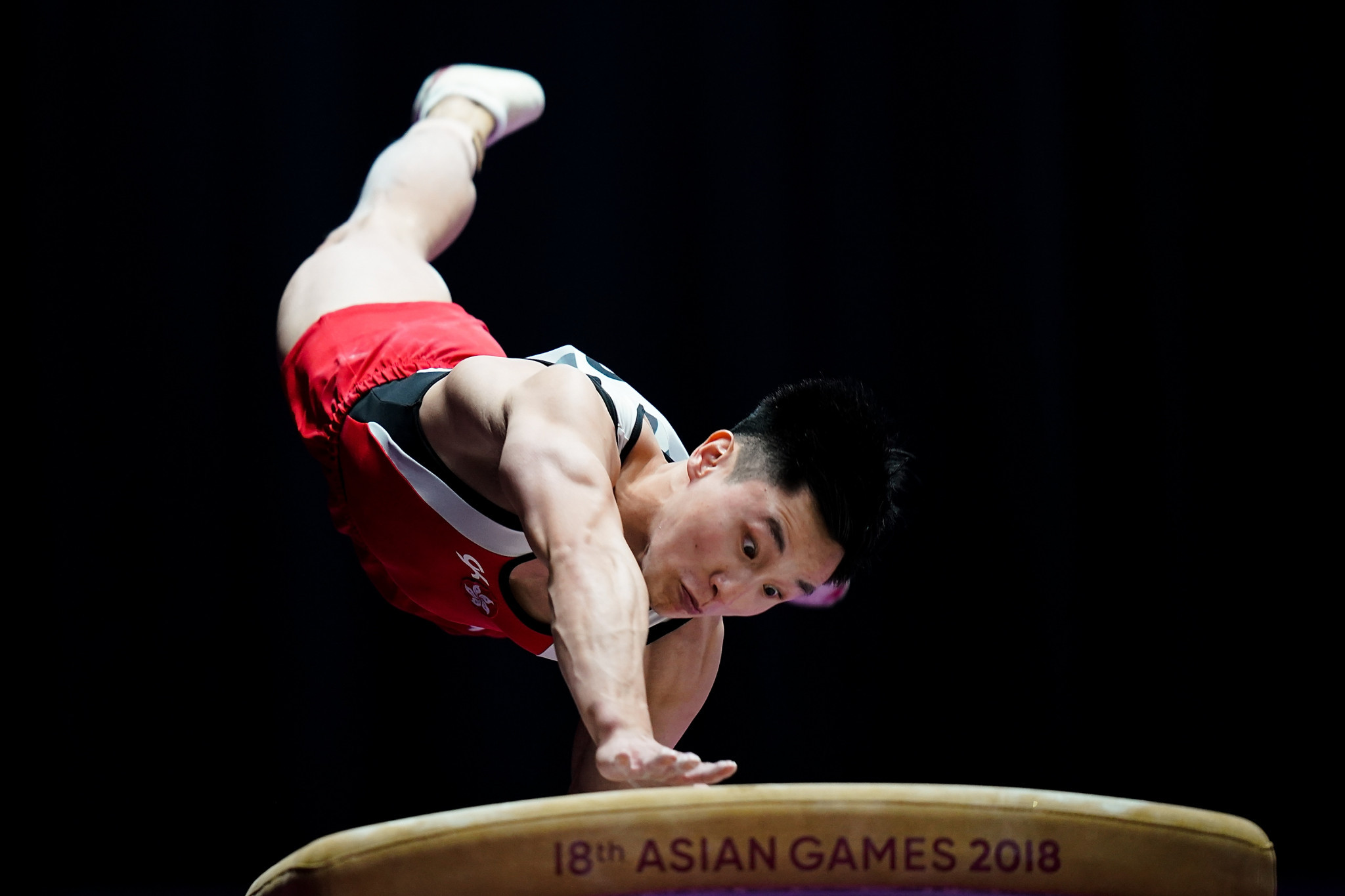 Hong Kong's Asian Games gold medallist Shek Wai Hung won the vault competition ©Getty Images