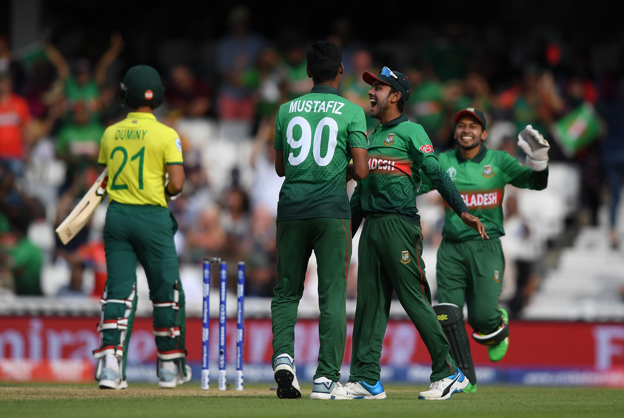 Bangladesh earn shock victory over South Africa at Cricket World Cup