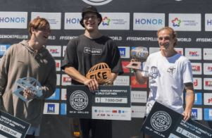 Poland's Krystian Kowalewski won the International Gymnastics Federation Parkour Freestyle World Cup in Montpellier ©FISE