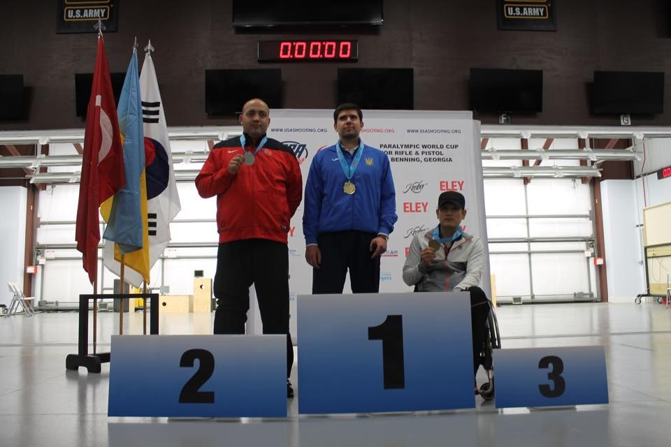 Ukraine's Oleksii Denysiuk took gold in the mixed 25m pistol SH1 event ahead of Turkey's Korhan Yamac, while South Korea's Chul Park claimed bronze