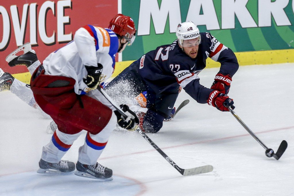 Defending champions Russia suffer shock defeat to US at Ice Hockey World Championship